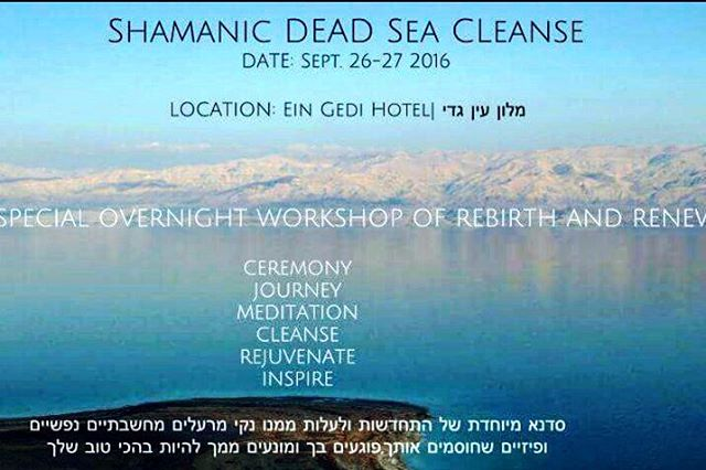 Join us today for my shamanic dead Sea cleanse. I will invoke your body with sacred medicines and shift you out of blocked energy inside and out by using the sacred Hamsa and King Solomon healing symbols infused Into your body for deep soul clearing. Then you will float in the dead Sea while I lead you on a guided meditation. Then eat laugh share hug look at stars for a total over stay at a luxury resort then at night a private salon talk about power and regeneration skills for youth and vitality. See you there - Shaman Durek  #SHAMANDUREK #HTCHTW