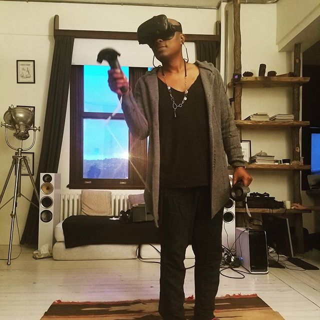 Having fun at home with virtual team @musestudionyc going into spiritual worlds and looking at #alexgrey in #vr and the amazing #artist #michealangelo #goodtimes #childsplay #technology for #education and #evolution