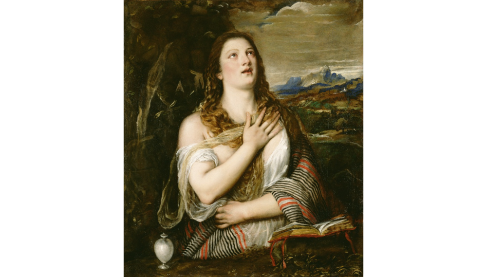 Click on image to see more info on The Penitent Magdalene at Getty Museum