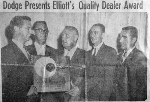 Michael Elliott, Frank G. Elliott, Terry Elliott, and Jim Elliott - Cleveland, OH 1956