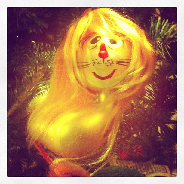 My 1972 choice for ornament might be my all time favorite.  I was six.