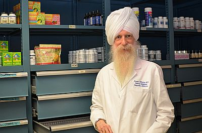 Dr. Soram in the Khalsa Medical Dispensary