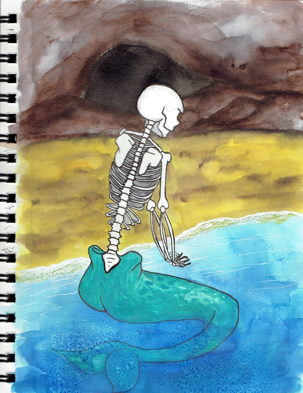 "10/3-1 ""Bone Mermaid"""