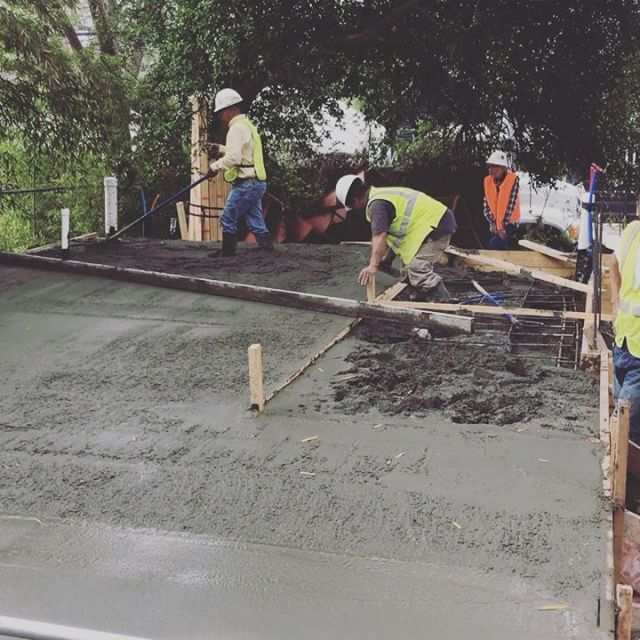 Exciting times at our Garden Street Casita project!  So much work goes into a well designed and well built home before the foundation is even poured. The pressure is on when the concrete starts flowing and these guys from Holt Concrete don't blink. They work hard and produce a great product. A good, straight home starts with a great foundation.