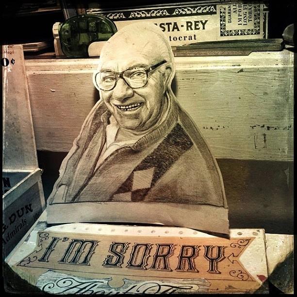 Apologies of the elderly, now in progress. (at Fullarton Acres)