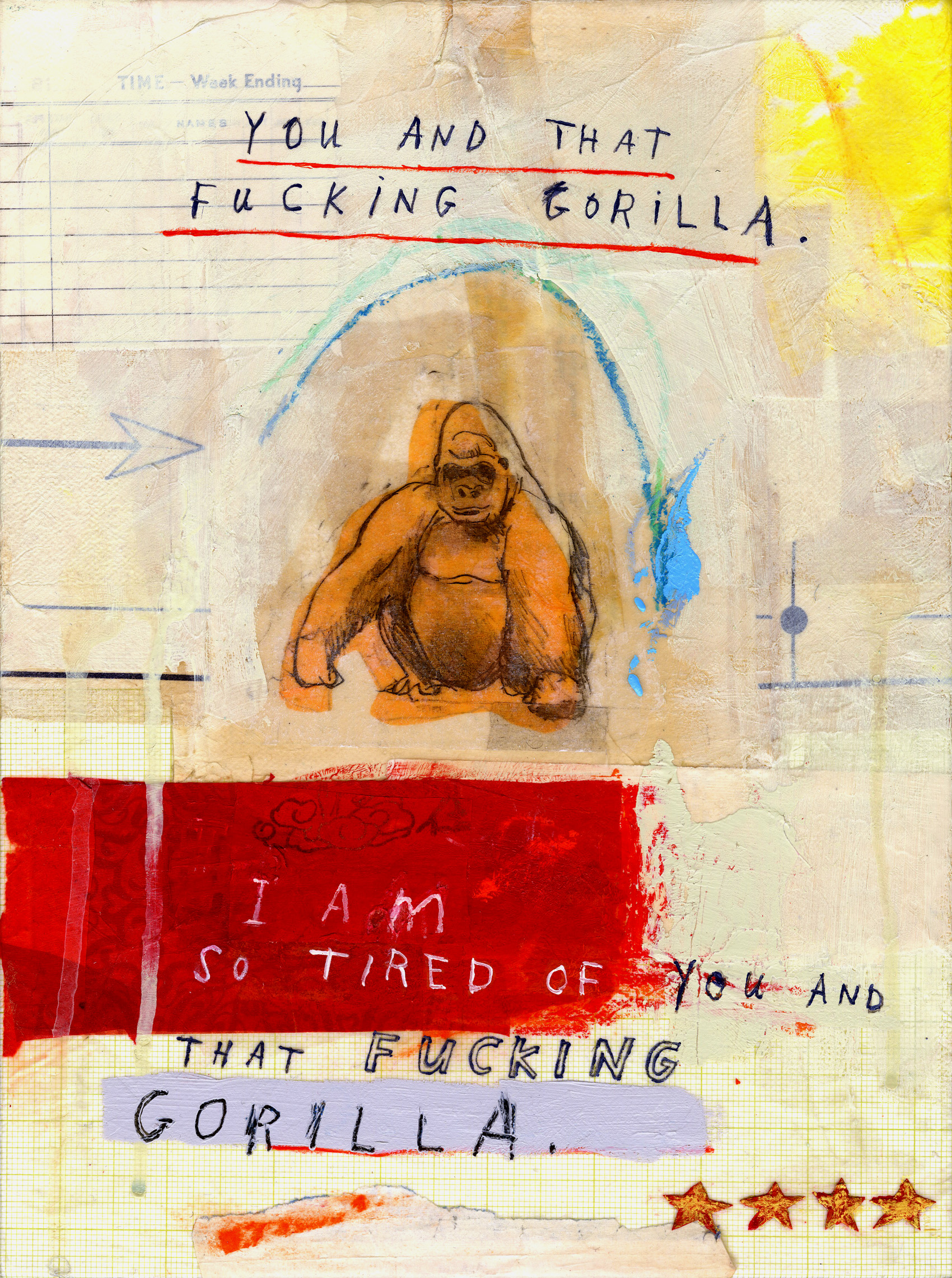 Gorillas and obscenities  - who could ask for more.