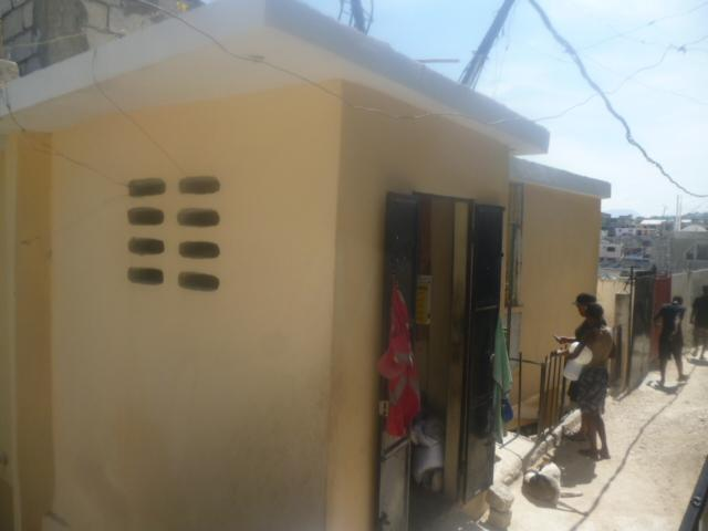 A completed homeowner-driven, retrofit house in Haiti.