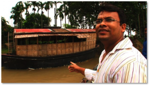 Architect Mohammed Rezwan has created floating schools outfitted with  solar-powered computers in flood-prone Bangladesh.