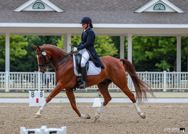Tracy and Eli in the the Developing Horse Grand Prix