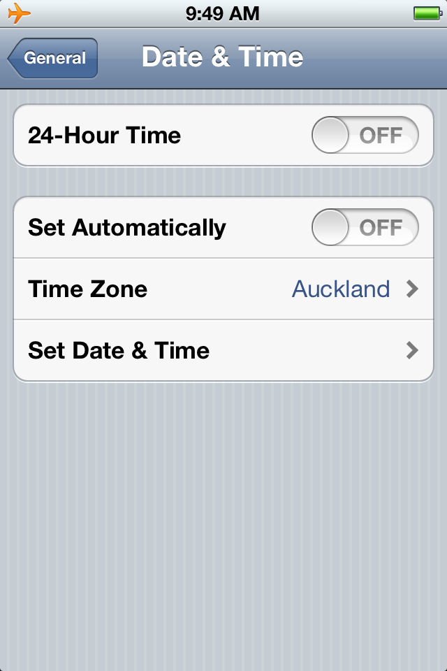 Time zone support on your iPhone