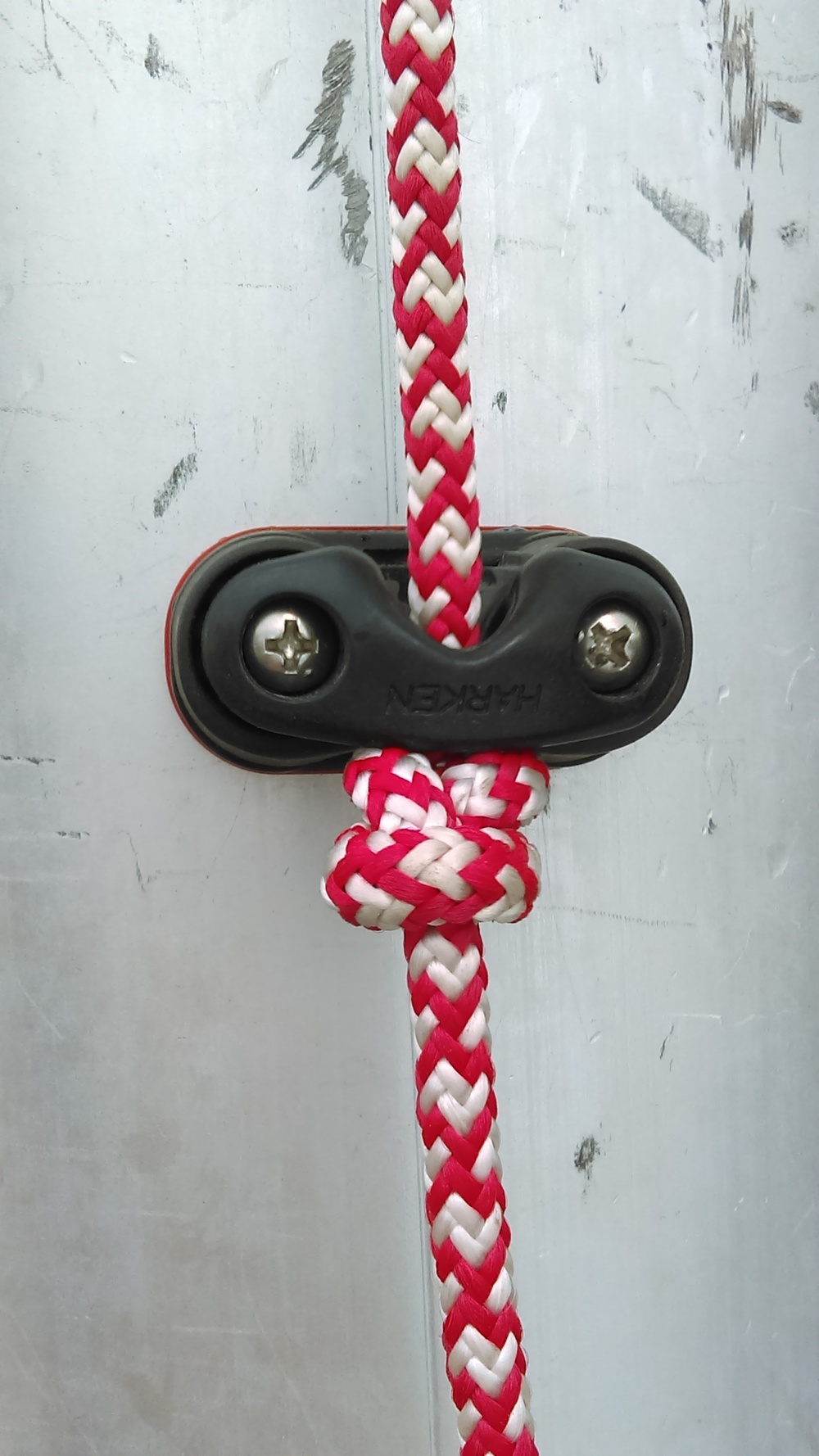 stopper knot in order to stow lazy jacks in the perfect position