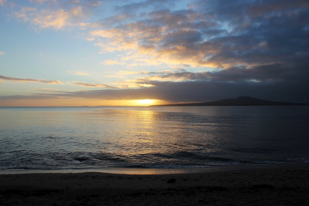 Yoga Auckland_Golden Yogi_Takapuna Beach Sunrise ~ April 2013