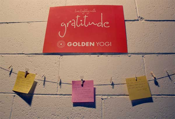 Yoga Auckland Yoga North Shore_Golden Yogi_GRATITUDE WALL