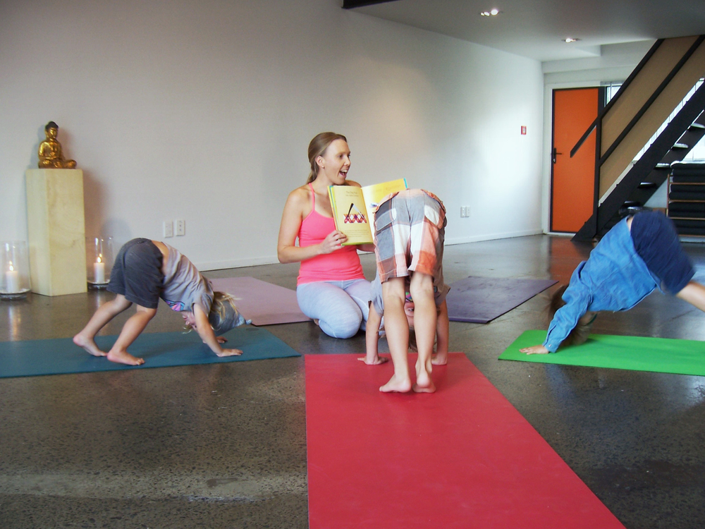 Yoga Auckland_Golden Yogi_Kids Yoga Downward Dogs