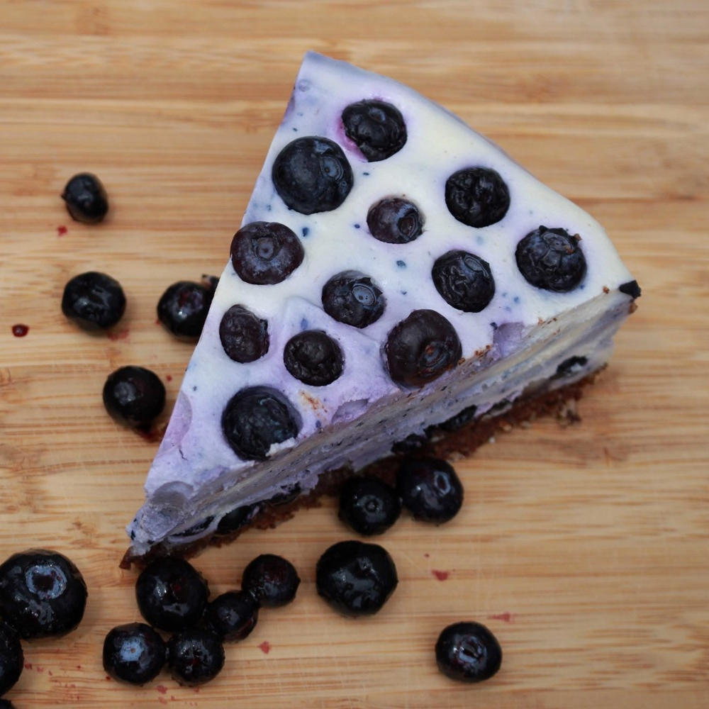 White Chocolate and Blueberry Raw Pie free recipe