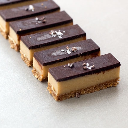 Raw Chocolate Caramel Slice recipe Auckland New Zealand