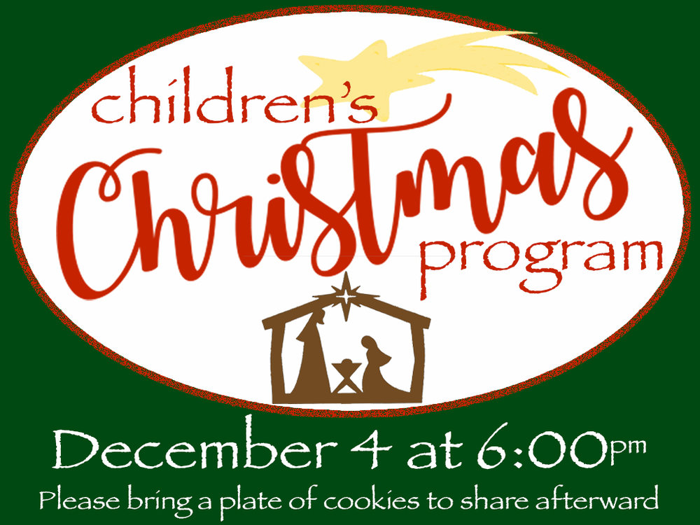 Children\'s Christmas Program — Trinity Mennonite Church