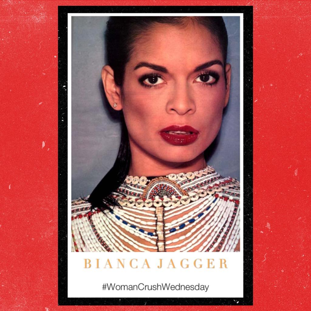 Bianca Jagger, in her heyday.