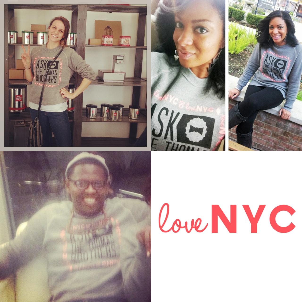 Send us a pic of you in your 'loveNYC' sweatshirt or tee & we'll put you on here! These are some we've gotten today