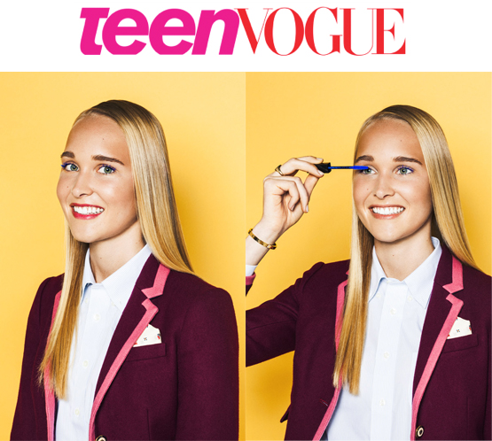 Check out the full story here!    http://www.teenvogue.com/back-to-school/beauty/2013/how-to-wear-colored-mascaras/?slide=5