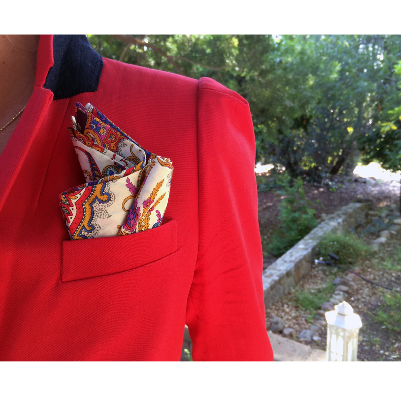 Richard III Pocket Square / J Crew Boyfriend Blazer /  Ojai , California