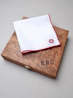 Men's Monogrammed Handkerchief, Finest Linen or Cotton Handkerchief, Pocket  Square, Wedding Handkerchief