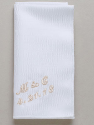 Men's Monogrammed Handkerchief, Irish Linen or Cotton Handkerchief, Pocket  Square, Wedding Handkerchief