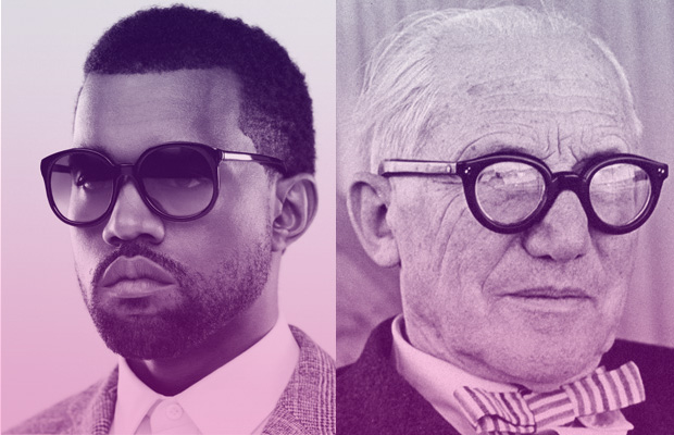 Left - Kanye West Right - LeCorbusier