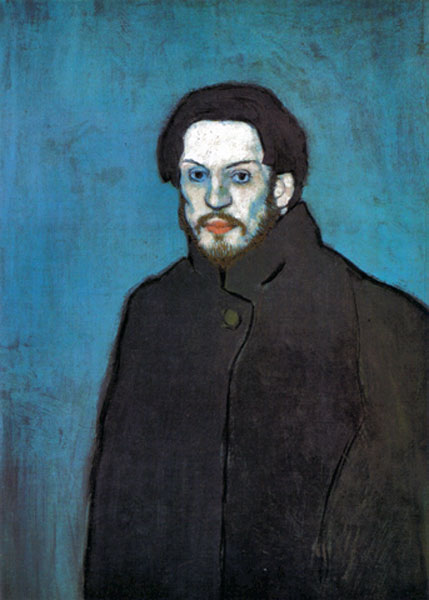Picasso's self portrait during his Blue Period 1901 - 1904.