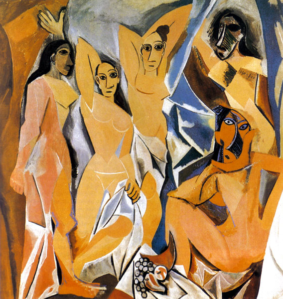 Picasso's Les Demoiselles d'Avignon 1907. This is arguably Picasso's greatest art piece and the supposed introduction of Cubism to the world.