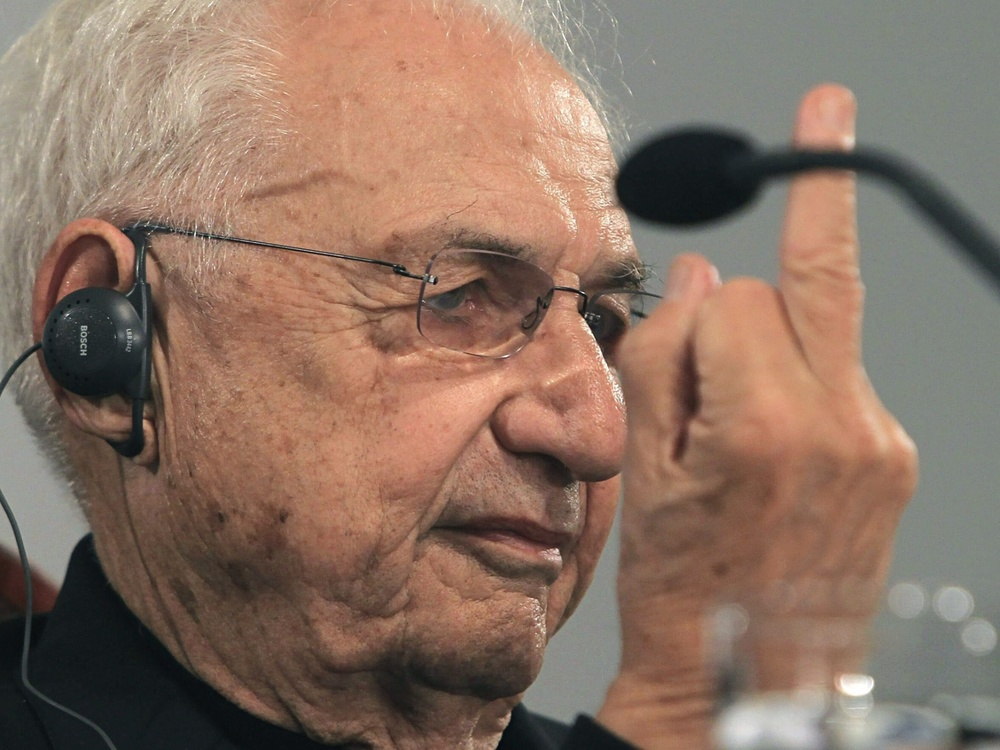 Architect Frank Gehry was in Oviedo to collect the Prince of Asturias prize. Photograph: J l Cereijido/EPA