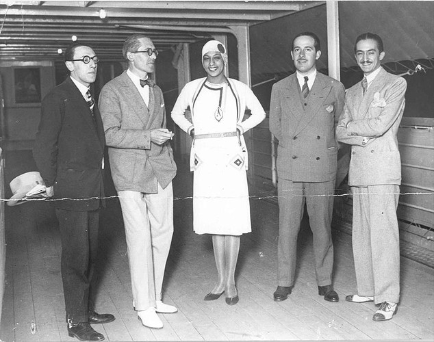 "Le Corbusier and Josephine Baker aboard ""Lutetia"", 1929. Image  Courtesy of FLC."