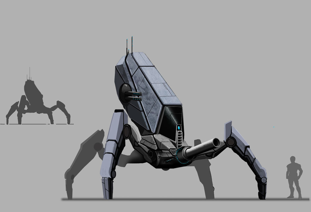 Black Hawk - Spider Explorer Mech