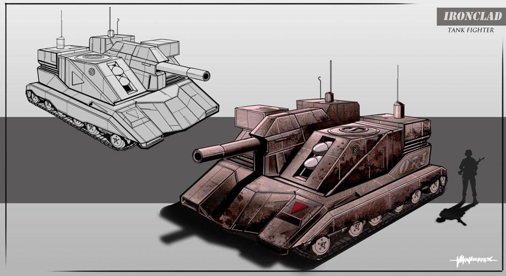 Black Hawk -Canon/Missile Tank Concept