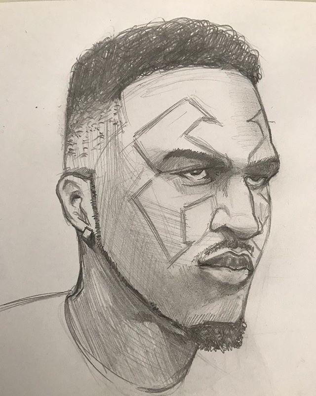 Sketching rappers! Guess? #rapper #illustration #design #sketch #urbansketch #face