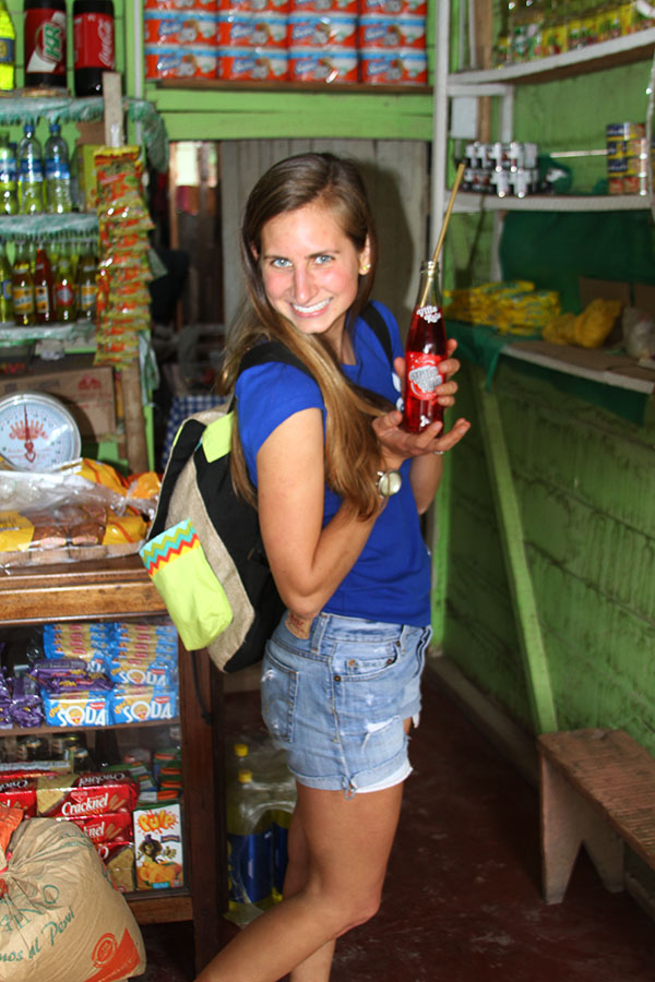 "This is me in a bodeguita (""little store"") with a Villa Kola, the classic ""jungle"" soda."