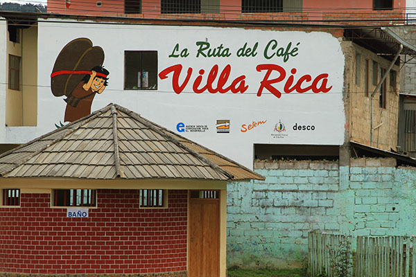 Here in the jungle, Villa Rica is known for it's production of coffee.