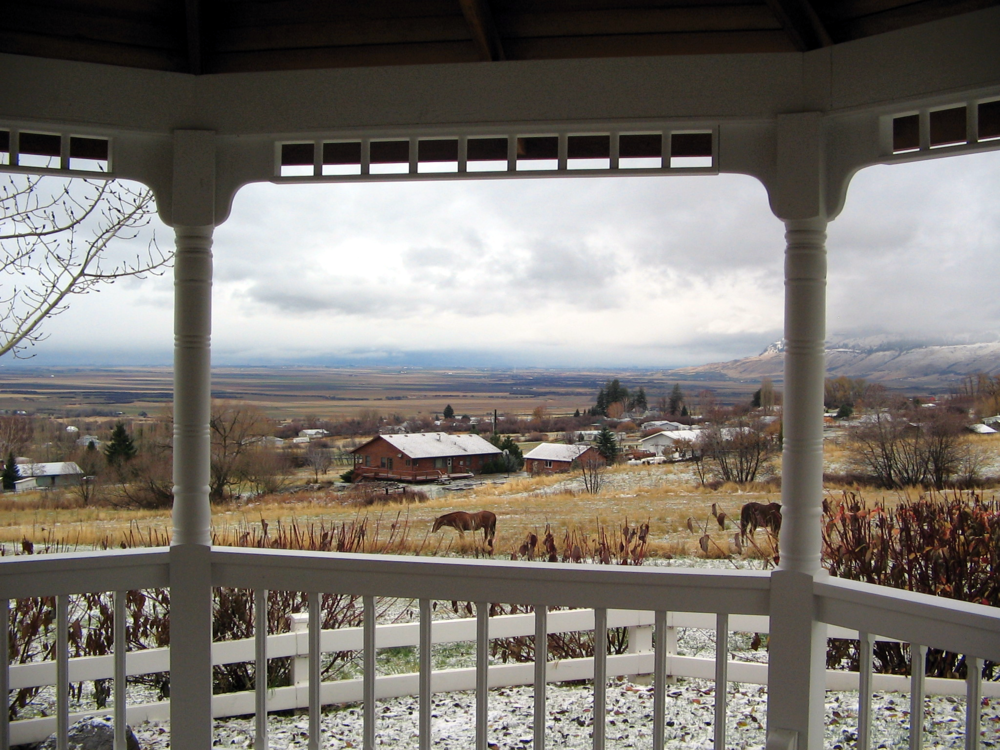 The view of the surrounding hillside from the Gazebo