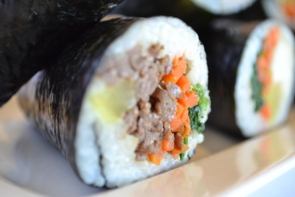 Gim Bap (Korean seaweed rolls)