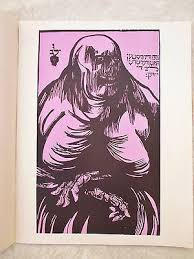 "At Least Death Loves the Jews, Woodcut, 1998, 55""x35"""