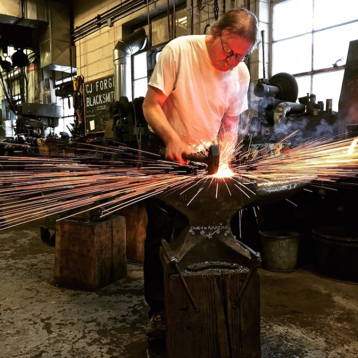 """There's a certain soul to blacksmithing, it has it's own magic...""        -Owen Creteau Jr."