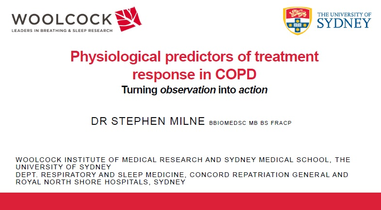 Dr Stephen Milne - Using physiologic measurements to guide COPD treatment