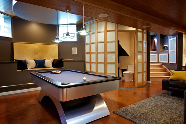 Basement Remodel by Gina Bon, Airoom Architects & Builders LLC Architects & Designers, (Photo: houzz.com)