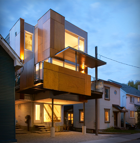 Urban infills how to take advantage of a small lot home renovations general contractor for Exterior home solutions ottawa