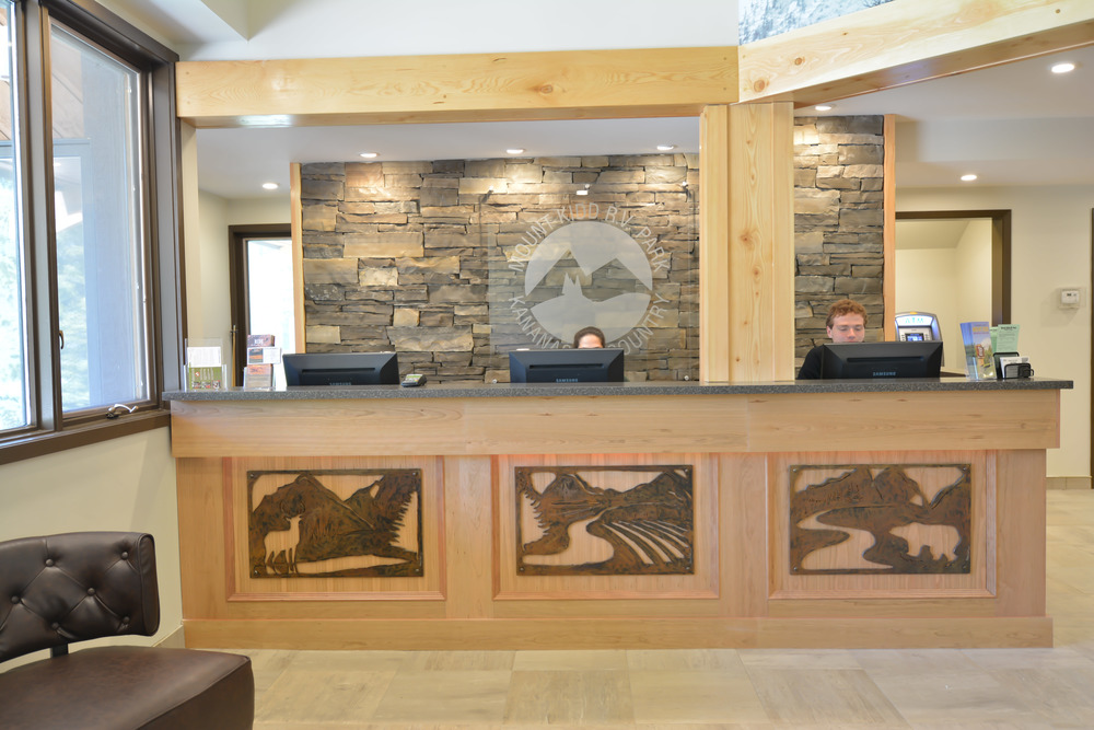 The reception and mountain cafe by Harmony Home Projects