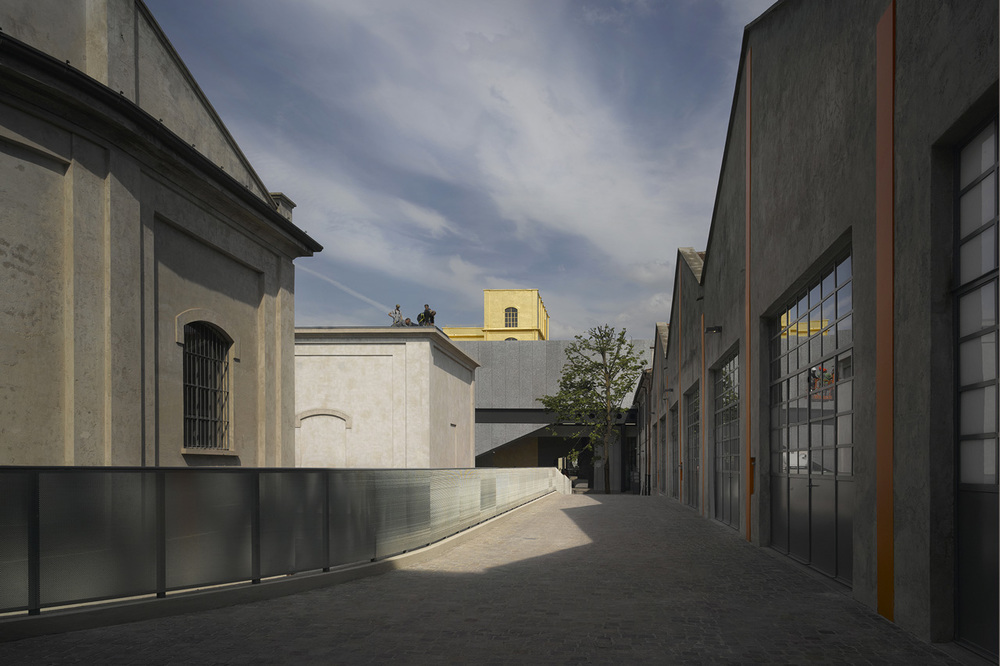 OMA, Fondazione Prada, Milano. Photo Bas Princen, 2015. Courtesy Fondazione Prada. View from the Deposito. Image Credit: http://www.domusweb.it/