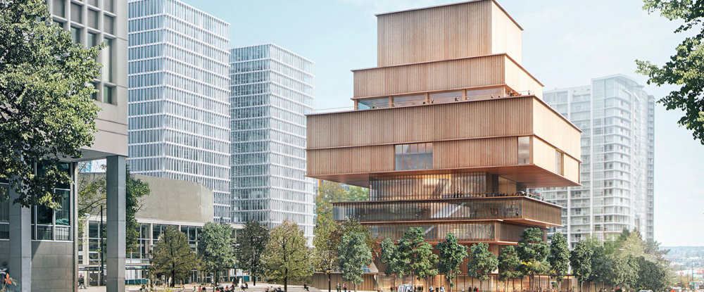 A wooden-cladded building of the (future) Vancouver Art Gallery. Image Credit: renewcanda.net