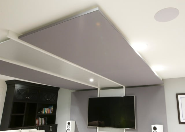 Home theatre room / family room - view of the ceiling panels.