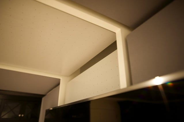 Home theatre room / family room - view of the mounting / architectural details.