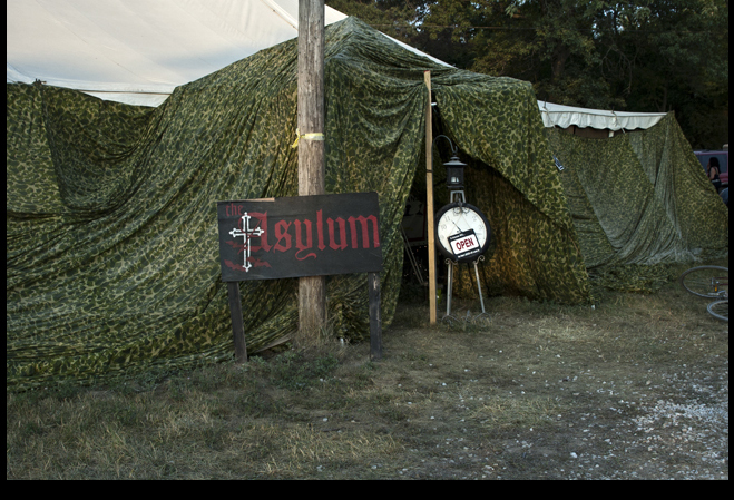 """ Asylum goth tent ,"" 2012."
